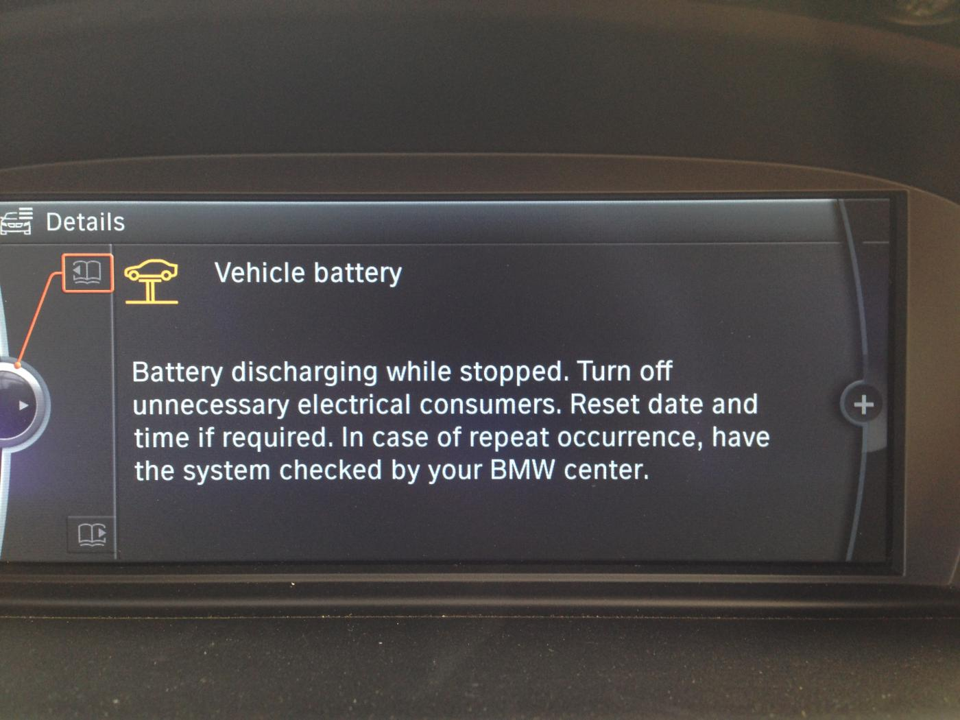 Quot Increased Battery Discharge Quot Warning After Disconnecting Battery