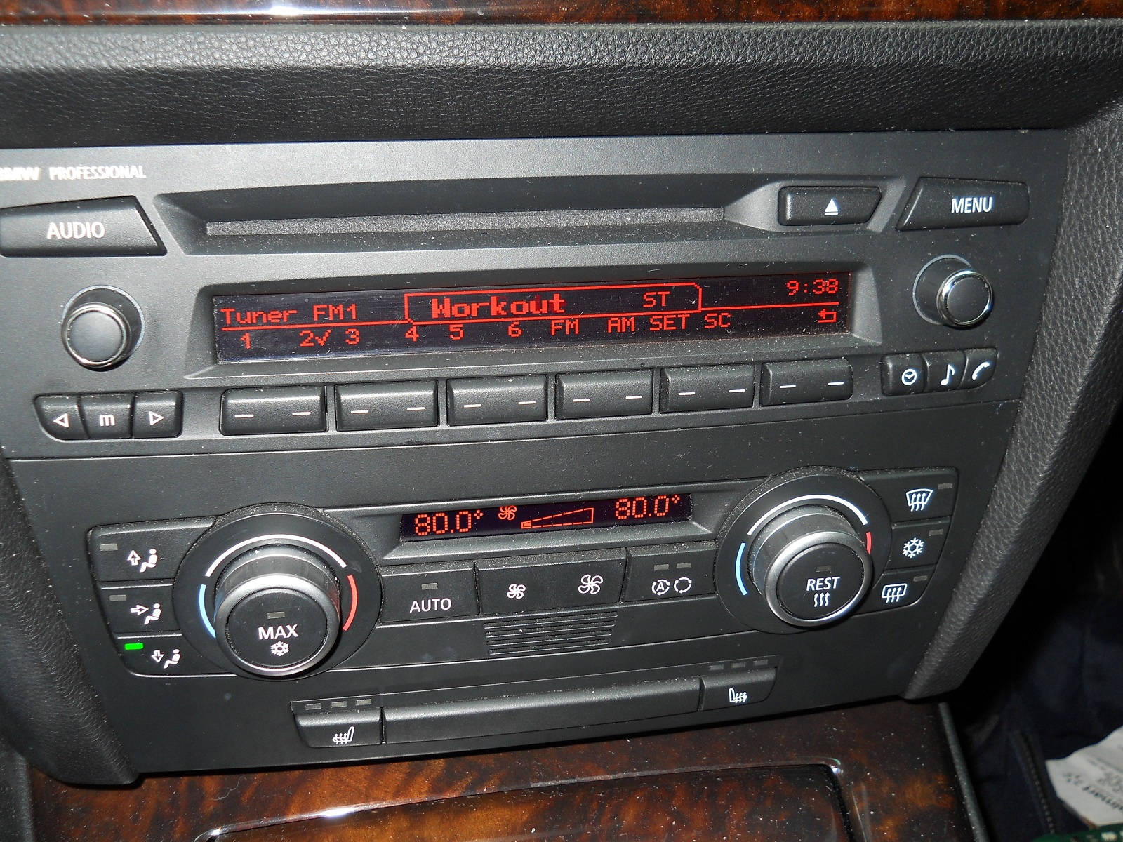 bmw professional radio with hifi chrome knobs. Black Bedroom Furniture Sets. Home Design Ideas