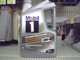 Mobil 1 0w 40 5qt Jug 24 97 In Walmart Of Glendora
