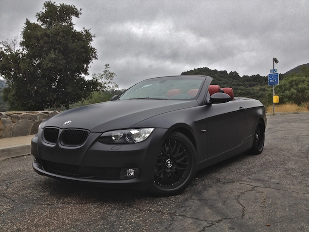 2008 E93 BMW 328i 70k Miles Hard Top Convertible Matte Charcoal On Red