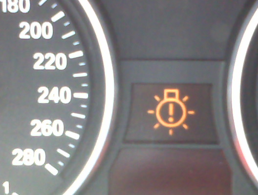 Burned Out Light Bulb Warning Light - Bmw e90 warning signs