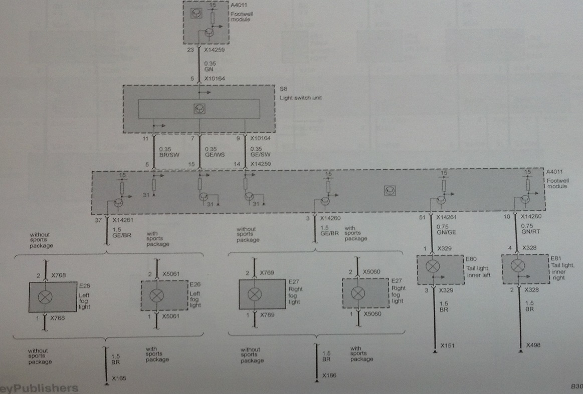 Need E92 Headlight Wiring Diagram Xenon Wire Schematic Attached Images