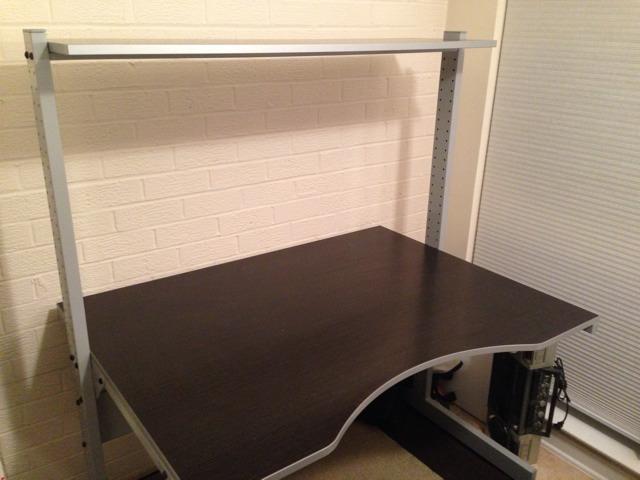 FS Ikea Jerker puter desk black brown