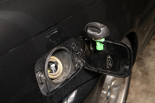 Green Plastic Piece Broke Off In Gas Cap