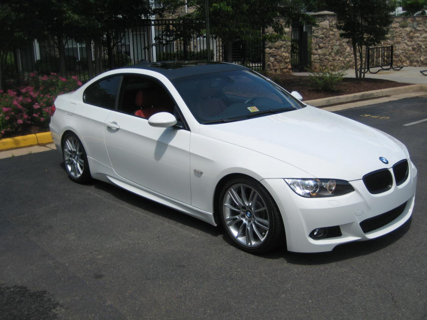 fs 2009 bmw 335i coupe m sport alpine white coral red all upgrades. Black Bedroom Furniture Sets. Home Design Ideas
