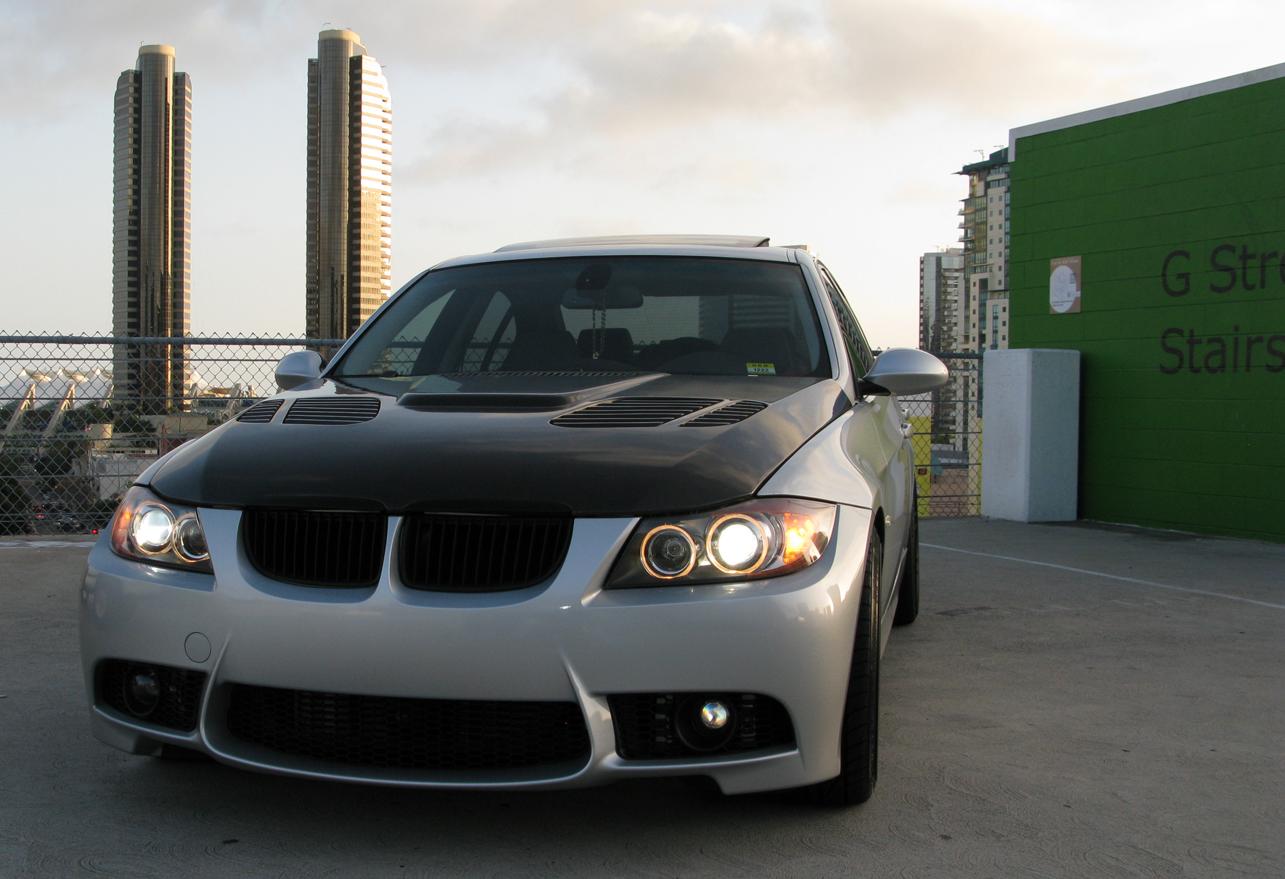 E90 Pre Lci Carbon Fiber Gtr Hood And Tinted Tail Lights