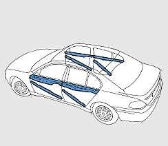 Diagonal Impact Car Accident