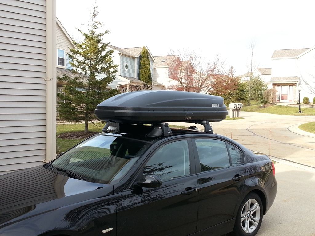 Oem Base Rail System Roof Rack And Thule Cargo Box