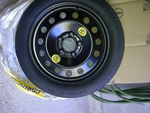 Continental Run Flat Tires >> BMW Space saver spare tire