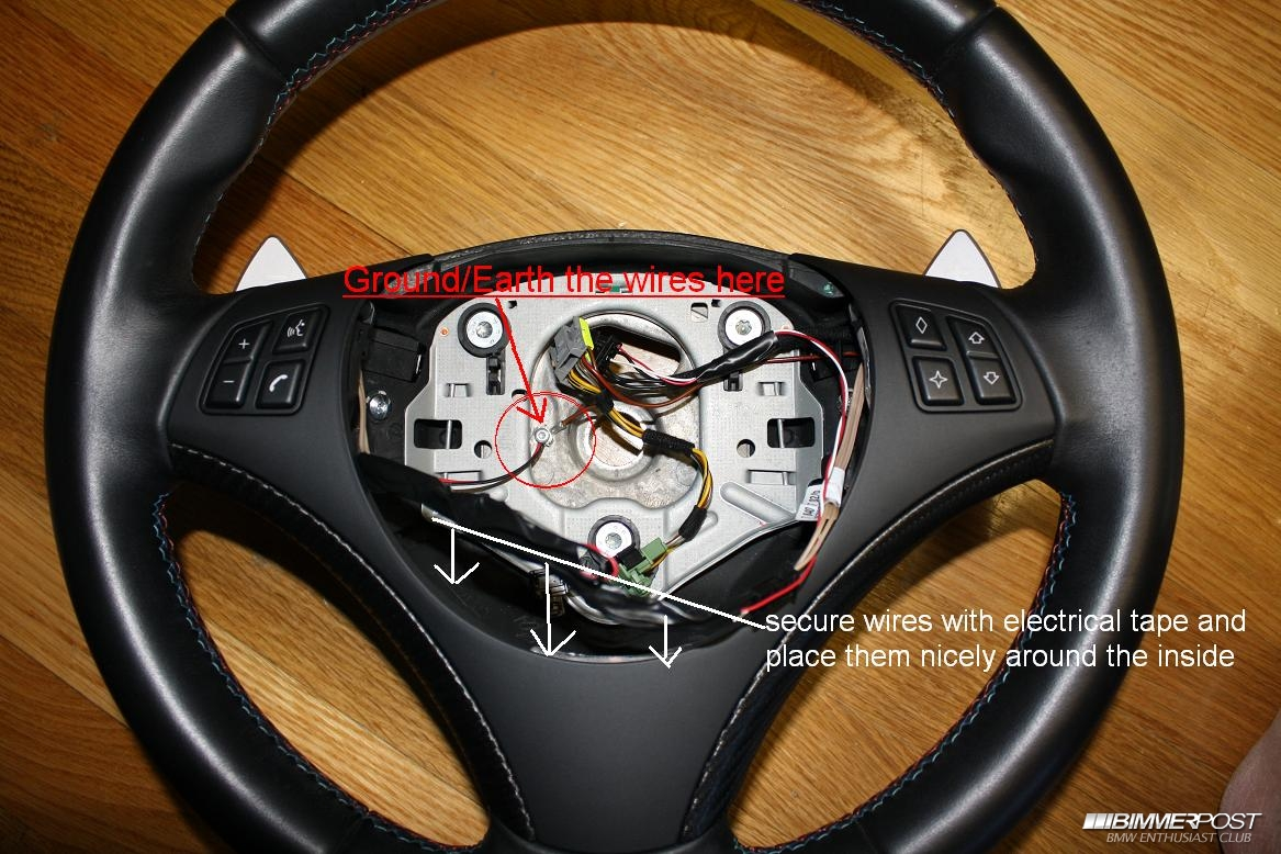 steering wheel diy retrofit paddle shifters BMW 2002 Steering Wheel at bakdesigns.co