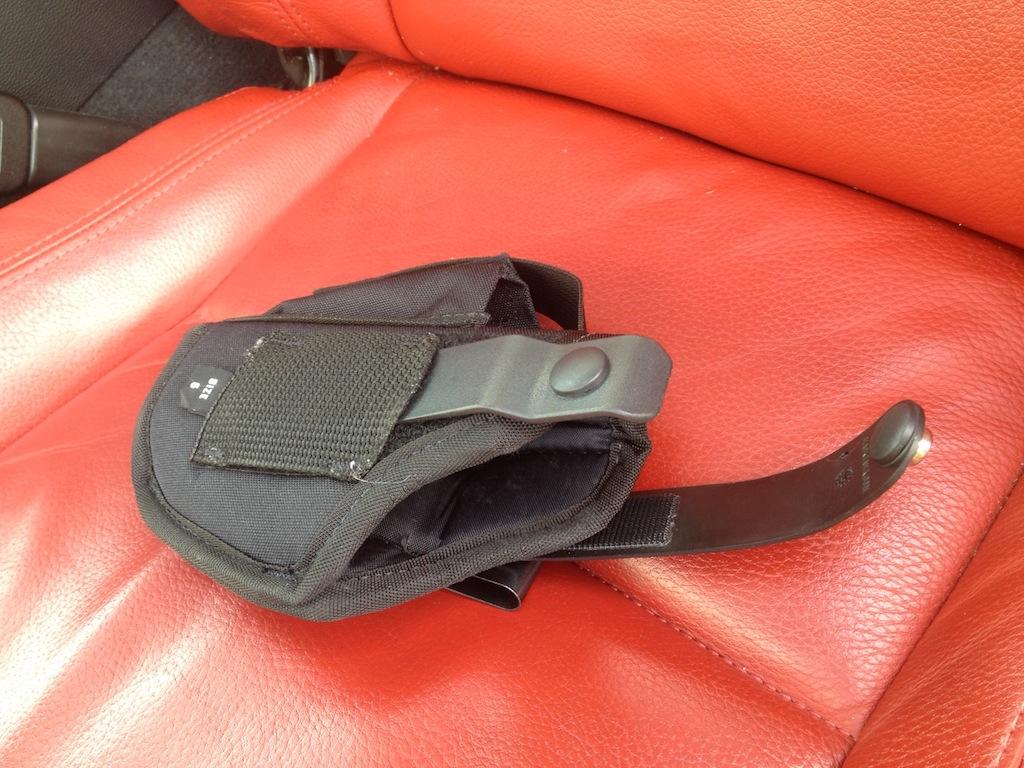 DIY: Steering Wheel Pistol Holster
