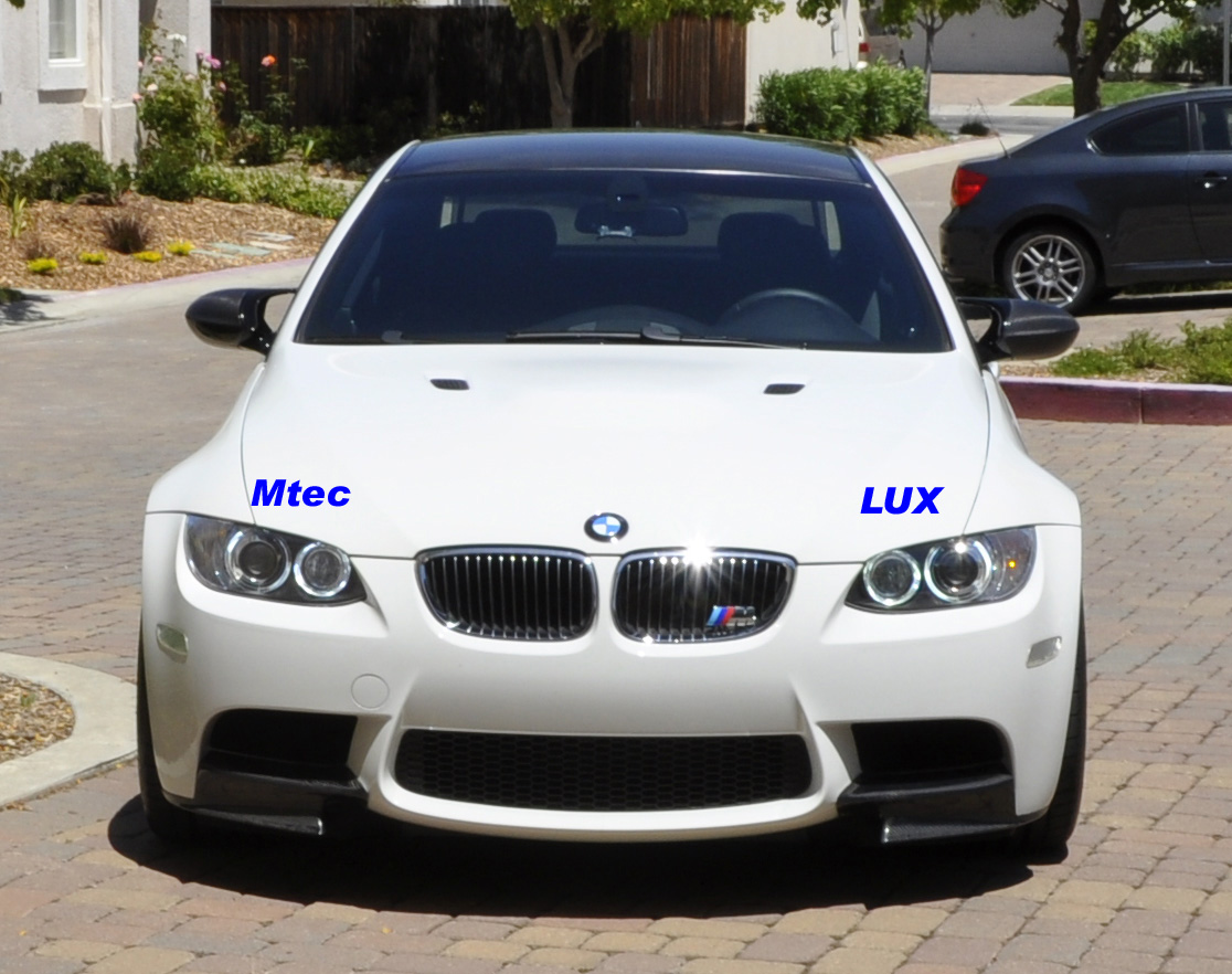 So today i reinstalled lux to the driver side and put my car under the sun to do a comparison