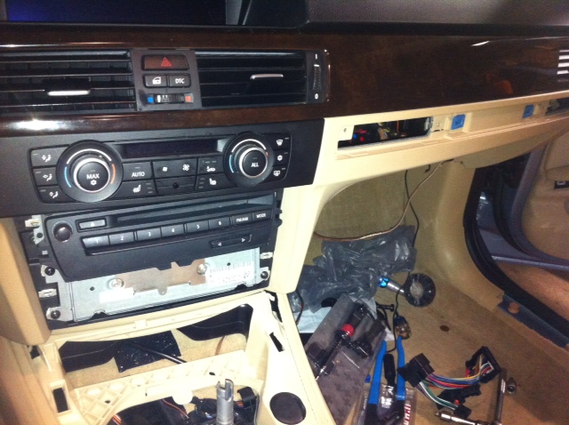 d ms technic harness and center speaker install base stereo that s it the radio is now out just unplug all the bits and pieces the main harness is a rocker latch you have to lift up and slide it and it will
